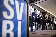 Sean Kali-rai talks during the Business of Cannabis event at the Silicon Valley Capital Club in San Jose, California, on April 4, 2019. (Stan Olszewski for Silicon Valley Business Journal)
