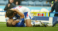 Photo: Aidan Ellis.<br /> Blackburn Rovers v Wigan Athletic. The Barclays Premiership. 01/10/2006.<br /> Blackburn's Morten Gamst Pedersen gives goal scorer David Bentley a kiss after the first goal for Rovers