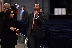 © Licensed to London News Pictures. 17/02/2018. Birmingham, UK. HENRY BOLTON is seen speaking to media after losing a vote at an EGM (extraordinary general meeting) by UKIP to discuss the future of current party leader Henry Bolton, following a series of unfavourable stories about his private life. Photo credit: Ben Cawthra/LNP