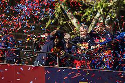 April 30, 2018 - Barcelona, Catalonia, Spain - FC Barcelona Victory Parade at the streets of Barcelona on 30 of April of 2018 in Barcelona. (Credit Image: © Xavier Bonilla/NurPhoto via ZUMA Press)