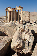 Funerary Temple at Diocletian's Camp. Palmyra, Syria. Ancient city in the desert that fell into disuse after the 16th century.