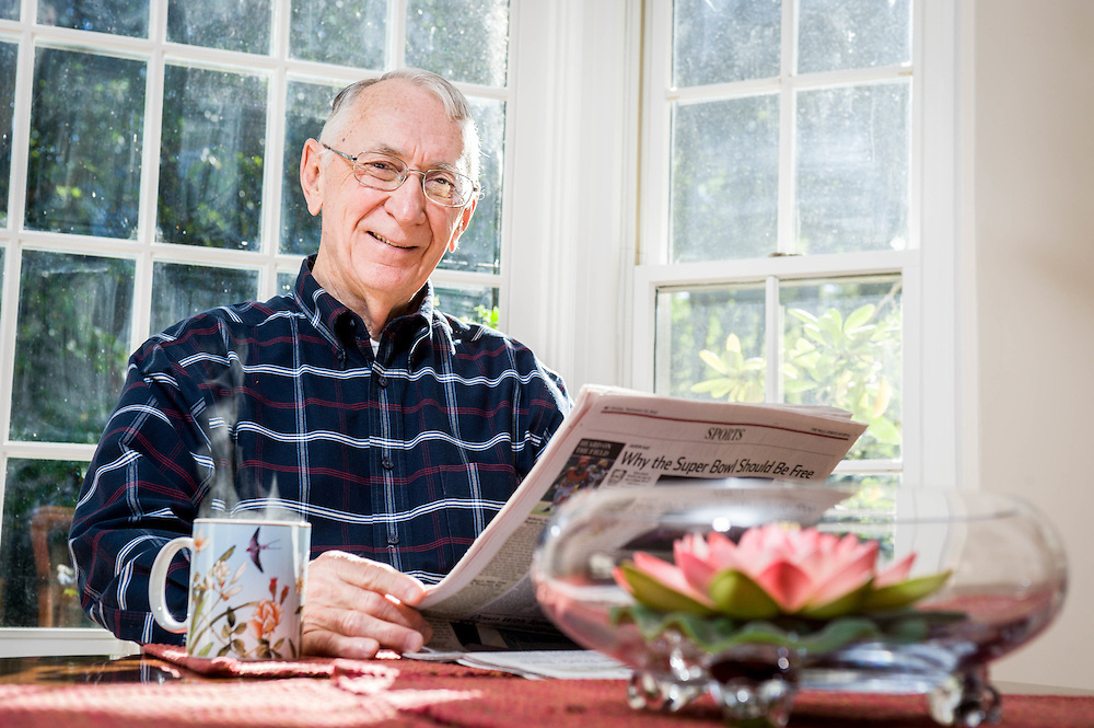 A Wafefield home owner photographed for the Mass Housing Annual Report.