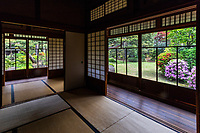 The mansion of Saheiji Mogi, one of the leading soy sauce brewers in Noda, Saitama was built around 1924.  Later the estate was donated<br /> to Noda City and repurposed as a citizen's welfare facility in the 1950s. The building, along with its garden and teahouse called Syojuan on the premises has been is designated as a Japanese tangible cultural property.  The entire grounds, focusing on the garden and teahouse are registered as a treasured monument of Japan. The facility is now used for cultural activities for local citizens. Mr Mogi was a soy sauce baron, for which Noda, Saitama is famous and is the world headquarters for Kikkoman. Over the course of time, most of the smaller soy sauce makers were merged into what is now Kikkoman.