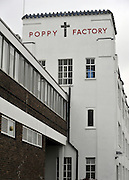 © Licensed to London News Pictures. 07/11/2011. Richmond, UK. A general view of the exterior of the factory. Red Poppies being made in The Poppy Factory in preparation for sale in 2012, Richmond, Surrey today 7th November.  The factory has been supplying the poppy, crosses and wreathes to the British Legion for almost 90 years. It is staffed by veterans, many whom of which are injured, sick or wounded of all ages. Photo credit : Stephen Simpson/LNP