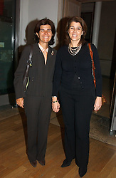 Left to right, the COUNTESS OF CASA MIRANDA wife of the Spanish Ambassador to the UK and CARMEN VALERIO at an exhibition of art entitled 'Royal Academicians in China: 2003-2005' held at the Royal Academy of Arts, Burlington House, Piccadilly, London on 11th January 2005.<br /><br />NON EXCLUSIVE - WORLD RIGHTS