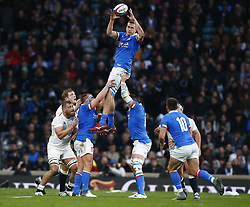 March 9, 2019 - London, England, United Kingdom - London, ENGLAND, 9th March .Federico Ruzza of Italy .during the Guinness 6 Nations Rugby match between England and Italy at Twickenham  stadium in Twickenham  England on 9th March 2019. (Credit Image: © Action Foto Sport/NurPhoto via ZUMA Press)
