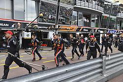 May 26, 2019 - Monte Carlo, Monaco - Motorsports: FIA Formula One World Championship 2019, Grand Prix of Monaco, ..Mechanic in pitlane  (Credit Image: © Hoch Zwei via ZUMA Wire)