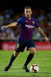 October 8, 2018 - Valencia, Valencia, Spain - Arthur Melo during the week 8 of La Liga match between Valencia CF and FC Barcelona at Mestalla Stadium in Valencia, Spain on October 7, 2018. (Credit Image: © Jose Breton/NurPhoto/ZUMA Press)