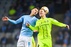 November 8, 2018 - MalmÅ, Sweden - 181108 Arn—r Ingvi Traustason of MalmÅ¡ FF in action with Matti Lund Nielsen of Sarpsborg 08 during the Europa League group stage match between MalmÅ¡ FF and Sarpsborg 08 on November 8, 2018 in MalmÅ¡..Photo: Petter Arvidson / BILDBYRN / kod PA / 92149 (Credit Image: © Petter Arvidson/Bildbyran via ZUMA Press)