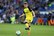 Matty Palmer of Burton Albion in action. Carabao Cup 2nd round match, Cardiff city v Burton Albion at the Cardiff City Stadium in Cardiff, South Wales on Tuesday 22nd August  2017.<br /> pic by Andrew Orchard, Andrew Orchard sports photography.