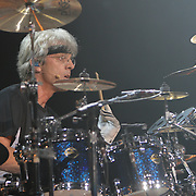 Stuart Copeland plays as The Police open their 2007 World Tour at The Key Arena in Seattle on 6/6/07.  It was the first time they played in the US since 1983.