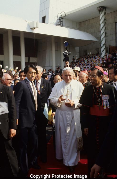 Pope John  Paul II visits Korea in May 1984...Photograph by Dennis Brack  bb22