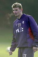 Tore Andre Flo signs for Rangers and traisn with squad for first time.<br />Pic Ian Stewart, November 23rd. 2000.<br />Torre Andre Flo at training this morniong