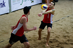 04-01-2020 NED: NK Beach volleyball Indoor, Aalsmeer<br /> Cain van Hal #1, Sven de Koe #2