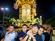 30 MARCH 2018 - BANGKOK, THAILAND: Thai Catholics carry a representation of Jesus after the crucifixion during Good Friday observances at Santa Cruz Church in the Thonburi section of Bangkok. Santa Cruz Church is more than 350 years old and is one of the oldest Catholic churches in Thailand. Good Friday is the day that most Christians observe as the crucifixion of Jesus Christ. Thailand has a small Catholic community.       PHOTO BY JACK KURTZ