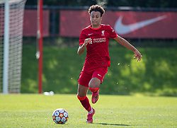 LIVERPOOL, ENGLAND - Wednesday, September 15, 2021: Liverpool's Kaide Gordon during the UEFA Youth League Group B Matchday 1 game between Liverpool FC Under19's and AC Milan Under 19's at the Liverpool Academy. Liverpool won 1-0. (Pic by David Rawcliffe/Propaganda)