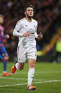Matt Grimes of Swansea City looks on. Barclays Premier League match, Crystal Palace v Swansea city at Selhurst Park in London on Monday 28th December 2015.<br /> pic by John Patrick Fletcher, Andrew Orchard sports photography.