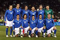 """Italy team<br /> Up: Massimo Ambrosini, Luca Toni, Massimo Oddo, Gianluca Zambrotta, Andrea Barzagli, Marco Amelia<br /> Bottom: Fabio Cannavaro, Andrea Pirlo, Antonio Di Natale, Raffaele Palladino, Daniele De Rossi<br /> Zurigo - Zurich 6/2/2008 Stadio """"Letzigrund"""" <br /> Firendly Match<br /> Italia Portogallo / Italy Portugal (3-1)<br /> Foto Andrea Staccioli Insidefoto"""