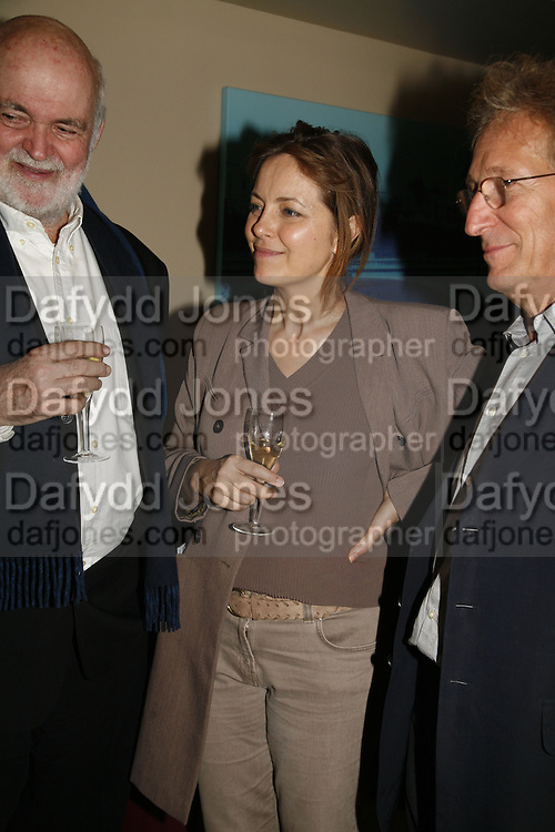 Anthony Page, Greta Scacchi and Tchaik Chassay, The 25th hour post party at the Plaza on the River, 18 Albert Embankment. Culmination of the 24 Hour Plays Celebrity Gala at the Old Vic.London. 8 October 2006.  -DO NOT ARCHIVE-© Copyright Photograph by Dafydd Jones 66 Stockwell Park Rd. London SW9 0DA Tel 020 7733 0108 www.dafjones.com