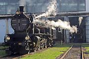 Strasshof, Austria.<br /> Opening of the season at Das Heizhaus - Eisenbahnmuseum Strasshof, Lower Austria's newly designated competence center for railway museum activities.<br /> kkStB 310.23 (Austrian Imperial Railways), ca. 1911-1916.
