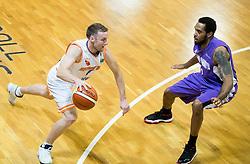 Jure Mocnik #4 of Helios Suns during basketball match between KK Helios Suns and Ironi Nahariya in #10 Round of FIBA Champions League 2016/17, on January 10, 2017 in Sportna dvorana Domzale, Domzale, Slovenia. Photo by Vid Ponikvar / Sportida