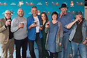 Persdag animatiefilm, Heinz - adults only in Brouwerij 't IJ, Amsterdam.<br /> <br /> Op de foto:  Piet Kroon (script en regie), Ruben van der Meer (Heinz), Ilse Warringa (Dolly) en striptekenaars Eddie de Jong en René Windig