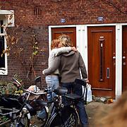 Huis Theo van Gogh Pythagorasstraat 133 Amsterdam nav zijn moord, bloemlegging, verdriet