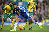 Diego Costa of Chelsea in action. Barclays Premier league match, Chelsea v Norwich city at Stamford Bridge in London on Saturday 21st November 2015.<br /> pic by John Patrick Fletcher, Andrew Orchard sports photography.