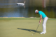 Dustin Johnson (USA) watches his putt on 11 during day 1 of the WGC Dell Match Play, at the Austin Country Club, Austin, Texas, USA. 3/27/2019.<br /> Picture: Golffile | Ken Murray<br /> <br /> <br /> All photo usage must carry mandatory copyright credit (© Golffile | Ken Murray)