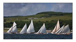 Class 2 startline. Mixed and bright conditions for the fleet as they race from Kames to Largs...* The Fife Yachts are one of the world's most prestigious group of Classic  yachts and this will be the third private regatta following the success of the 98,  and 03 events.  . .Marc Turner / PFM Pictures