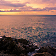 """""""Lake Ontario on the Rocks""""<br /> <br /> Beautiful and peaceful sunset from the shores of Lake Ontario at Fifty Point Conservation Area!"""