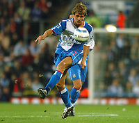 Photo: Back Page Images. 30/10/2004.<br /> Barclays Premiership. Blackburn Rovers v Liverpool. Ewood Park.<br /> Jay Mceveley the player involved in Djibril Cisse's broken leg.