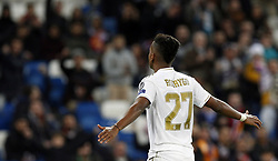 November 6, 2019, Madrid, Spain: Real Madrid CF's Rodrygo Goes celebrates after scoring a goal during the UEFA Champions League match between  Real Madrid and Galatasaray SK at the Santiago Bernabeu in Madrid. (Credit Image: © Manu Reino/SOPA Images via ZUMA Wire)