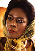 """Actress Cicely Tyson on the set of """"King"""" as she portrayed Coretta Scott King, wife of slain civil rights leader Dr. Martin Luther King, Jr. (1978)<br /> Cicely Tyson (December 19, 1924 – January 28, 2021) was an American actress and fashion model. In a career spanning more than seven decades, she became known for her portrayal of strong African-American women.[3][4] Tyson was the recipient of three Primetime Emmy Awards, four Black Reel Awards, one Screen Actors Guild Award, one Tony Award, an honorary Academy Award, and a Peabody Award.<br /> <br /> Having appeared in minor film and television roles early in her career, Tyson garnered widespread attention and critical acclaim for her performance as Rebecca Morgan in Sounder (1972); she was nominated for both the Academy Award and Golden Globe Award for Best Actress for her work in the film. Tyson's portrayal of the title role in the 1974 television film The Autobiography of Miss Jane Pittman won her further praise; among other accolades, the role won her two Emmy Awards and a nomination for a BAFTA Award for Best Actress in a Leading Role.<br /> <br /> Tyson continued to act in film and on television in the 21st century. In 2011, she played the role of Constantine Jefferson in the award-winning film The Help. She also played the role of Ophelia Harkness in the American Broadcasting Company's legal drama How to Get Away With Murder since the show's inception in 2014, for which she was nominated for the Primetime Emmy Award for Outstanding Guest Actress in a Drama Series five times.<br /> <br /> In addition to her screen career, Tyson appeared in various theater productions. She received a Drama Desk Award in 1962 for her Off-Broadway performance in Moon on a Rainbow Shawl. Tyson also starred as Carrie Watts in the Broadway play The Trip to Bountiful, winning the Tony Award, the Outer Critics Award, and the Drama Desk Award for Best Actress in a Play in 2013. In November 2016, Tyson received the Presidential Medal o"""