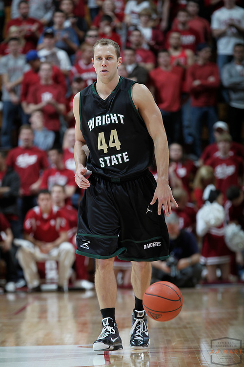14 November 2010: Wright State Raiders guard Vaughn Duggins (44) as the Indiana Hoosiers played the Wright State Raiders in a college basketball game in Bloomington, Ind.