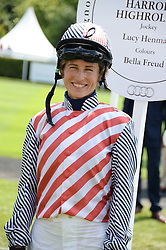 LUCY HENMAN at the 3rd day of the 2013 Glorious Goodwood racing festival - Ladies day at Goodwood Racecourse, West Sussex on 1st August 2013.
