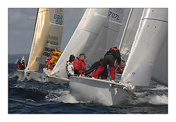 Sailing - The 2007 Bell Lawrie Scottish Series hosted by the Clyde Cruising Club, Tarbert, Loch Fyne..Brilliant first days conditions for racing across the three fleets..Sportsboat Class one, White Tiger racing with an autistic boy Murray MacDonald onboard who won a special award..