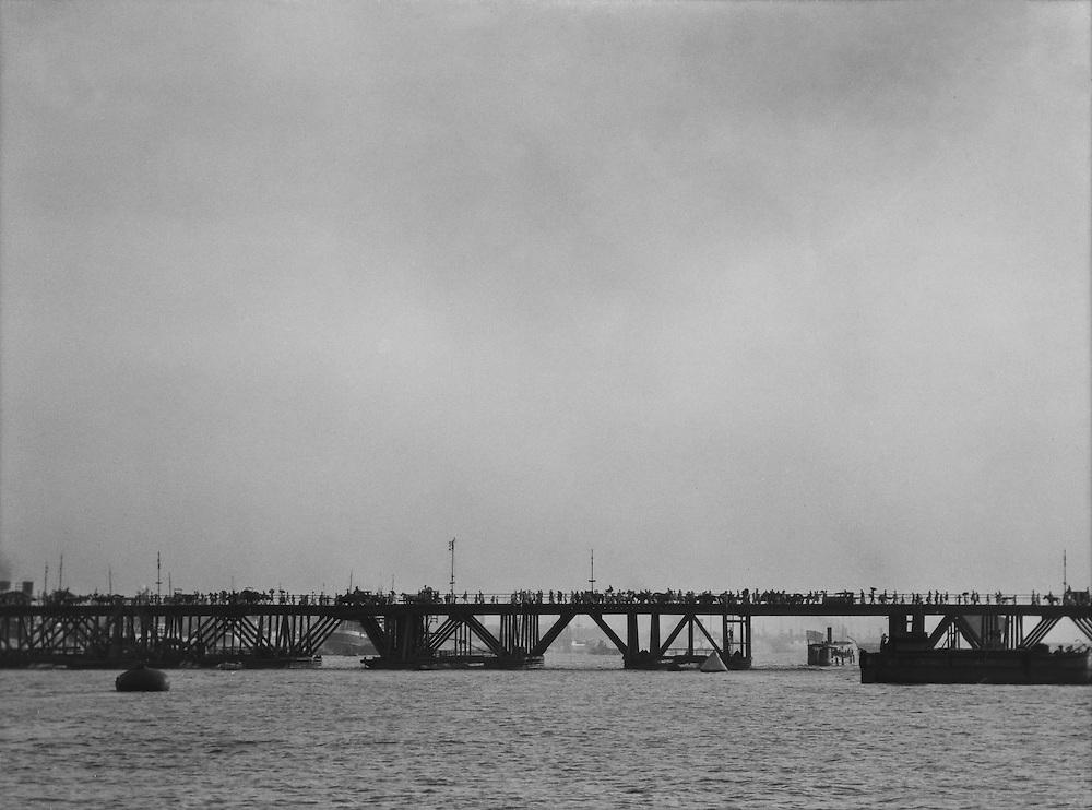Howrah Bridge, Calcutta, India, 1929