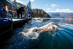 Marin Medak during Bled trophy in winter swimming in lake Bled on 18th of February, 2017, Bled, Slovenia. Photo by Grega Valancic / Sportida