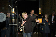 Assi Aure, 130 Years Of Veuve Clicquot Yellow, The Wapping Project, Wapping Wall, London, E1,13 November 2007. -DO NOT ARCHIVE-© Copyright Photograph by Dafydd Jones. 248 Clapham Rd. London SW9 0PZ. Tel 0207 820 0771. www.dafjones.com.