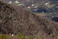 Mountainville, New York - A hiker, at lower left, enjoys the view from the Schunnemunk Mountain on  Nov. 28, 2010.