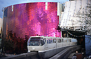 Construction on the Experience Music Project rock 'n' roll museum in 2000 featured a tunnel through which the Seattle Center Monorail passes, giving passengers a view of the museum. (Benjamin Benschneider / The Seattle Times)