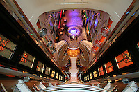 Royal Caribbean International's  Independence of the Seas, the world?s largest cruise ship. ..Interior and exterior features photos...View from an interior balcony. *** Local Caption *** View from an interior balcony.