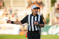 KELOWNA, BC - AUGUST 3:  Referee at the Apple Bowl on August 3, 2019 in Kelowna, Canada. (Photo by Marissa Baecker/Shoot the Breeze)
