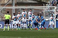 """Il gol di Omar El Kaddouri Empoli<br /> Goal Celebration Empoli<br /> Empoli 19-03-2017  Stadio """"Carlo Castellani""""<br /> Campionato Serie A 2016/2017<br /> Empoli - Napoli<br /> Foto Luca Pagliaricci / Insidefoto"""