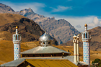 The Jama Masjid Mosque in the town of  Dras. Dras has a subarctic climate and is known as the second coldest inhabited place in the world. Ladakh, Jammu and Kashmir State, India.