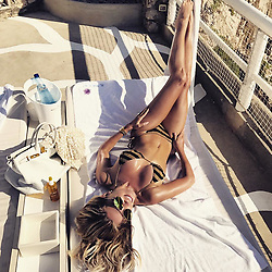 """Sylvie Meis releases a photo on Instagram with the following caption: """"\ud83c\uddee\ud83c\uddf9\ud83d\udc95Enjoying 'La Dolce Vita'\ud83d\udc95\ud83c\uddee\ud83c\uddf9 #vacationtime #relax #italy #summervibes"""". Photo Credit: Instagram *** No USA Distribution *** For Editorial Use Only *** Not to be Published in Books or Photo Books ***  Please note: Fees charged by the agency are for the agency's services only, and do not, nor are they intended to, convey to the user any ownership of Copyright or License in the material. The agency does not claim any ownership including but not limited to Copyright or License in the attached material. By publishing this material you expressly agree to indemnify and to hold the agency and its directors, shareholders and employees harmless from any loss, claims, damages, demands, expenses (including legal fees), or any causes of action or allegation against the agency arising out of or connected in any way with publication of the material."""