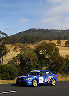 David Waldon & David Catt .2005 Subaru Impreza WRX STI Spec C.Day 2.Targa Wrest Point 2009.Southern Tasmania.1st of February 2009.(C) Joel Strickland Photographics.