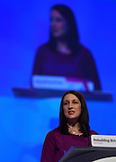 © Licensed to London News Pictures. 02/10/2012. Manchester, UK Rachel Reeves. The Labour Party Conference Day 3 at Manchester Central. Photo credit : Stephen Simpson/LNP