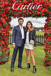 Alex Riviere and Christian Sieber at the Cartier Queen's Cup Polo 2019 held at Guards Polo Club, Windsor, Berkshire. UK 16 June 2019. <br /> <br /> Photo by Dominic O'Neill/Desmond O'Neill Features Ltd.  +44(0)7092 235465  www.donfeatures.com